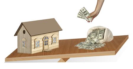 payer: House and money on balance Stock Photo