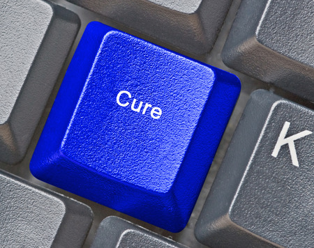 Hot key for cure Stock Photo
