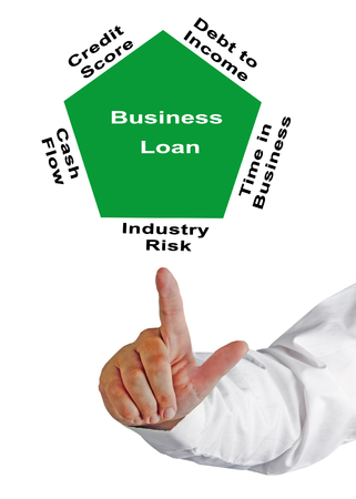obtaining: Factors affecting obtaining of Business Loan Stock Photo