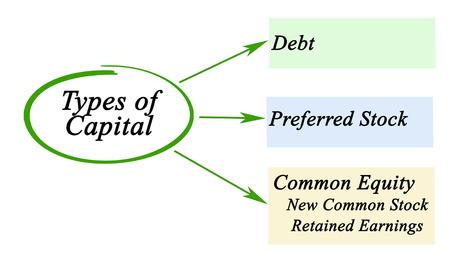 preferred: Types of Capital Stock Photo