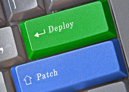 Keys to deploy and patch Stock Photo - 64107381