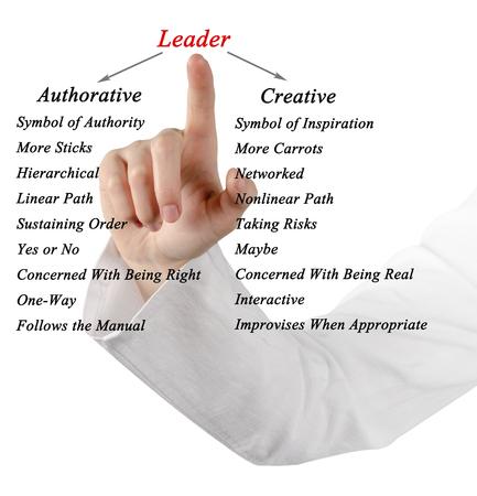 authoritative woman: Types of leaders Stock Photo