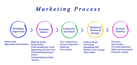 Diagram of Marketing Process Фото со стока