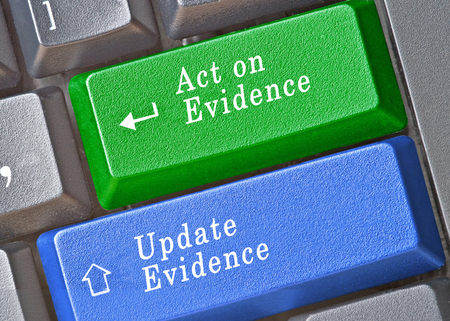 evidence based: Keys for work with clinical problems Stock Photo