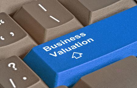Key for business valuation Archivio Fotografico