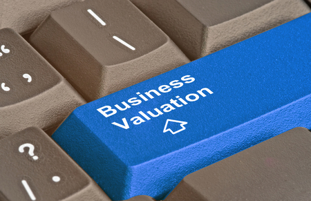 valuation: Key for business valuation Stock Photo