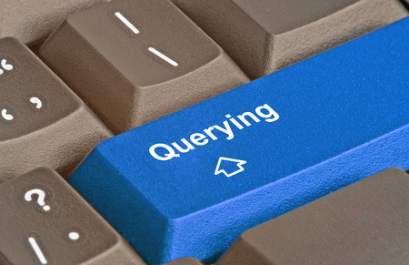 querying: Keyboard with key for querying