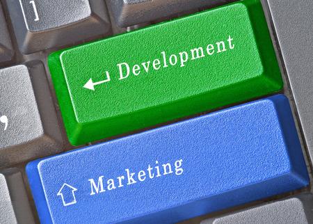 Hot keys for development and marketing