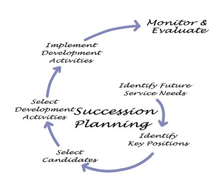 Succession Planning Process Reklamní fotografie