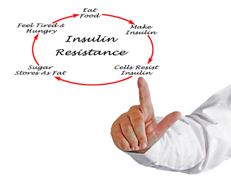 Development of Insulin Resistance Stockfoto