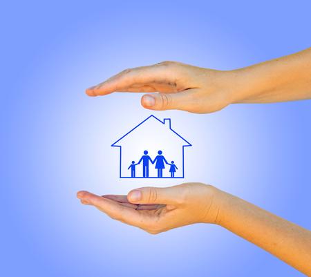 Don de maison et de famille Banque d'images