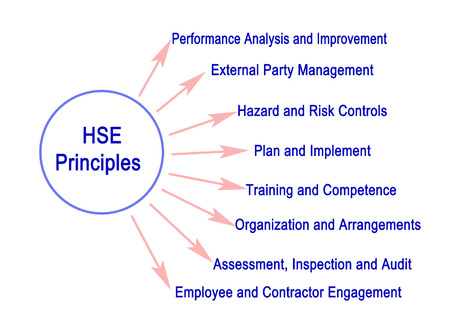 Eight HSE (health safety environment)  Principles 版權商用圖片 - 125044287