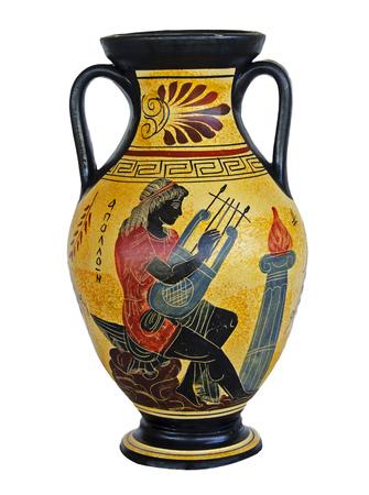 Greek vase isolated on white background 版權商用圖片 - 125970228