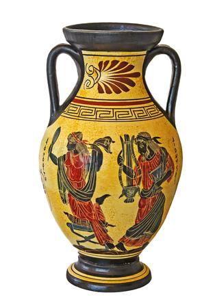 Greek vase isolated on white background 版權商用圖片