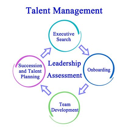 Four Components of Talent Management Stock Photo