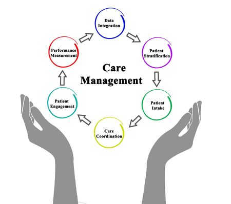 Six Components of Care Management 版權商用圖片 - 131921767