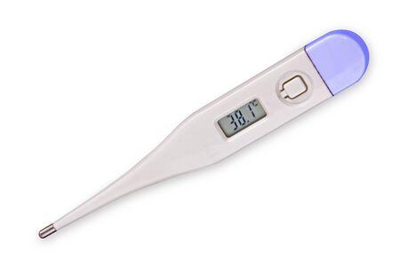 Medical digital thermometer in hand 版權商用圖片 - 131921797