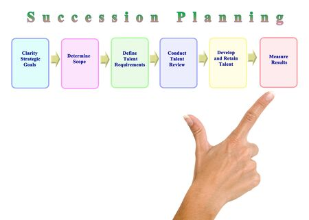 Six components of Succession Planning Stock Photo