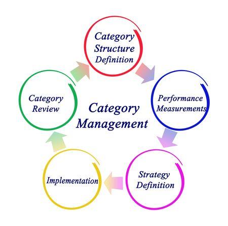 Cinq étapes de la gestion de catégorie