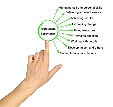 Woman Presenting Nine Professional Behaviours