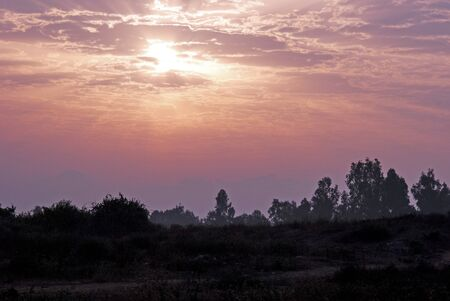 Dawn in wintery morning, Isreal