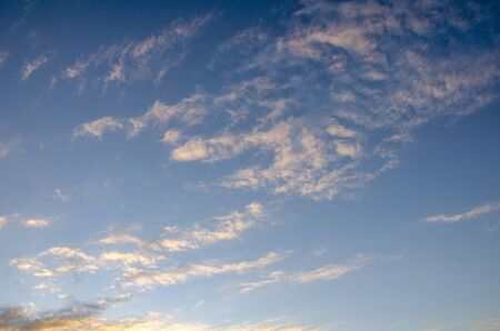 Cloudy wintery sky in Israel Stock Photo