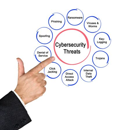Man Presenting Ten Cybersecurity  Threats