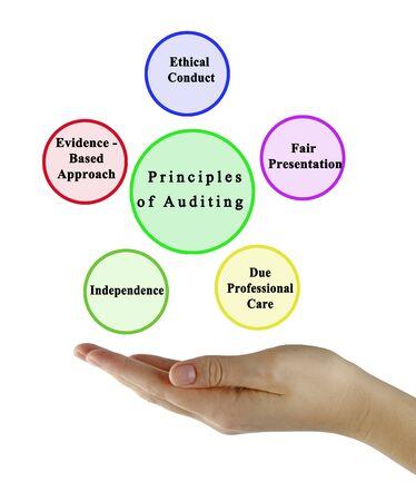 Five Principles of Auditing Фото со стока