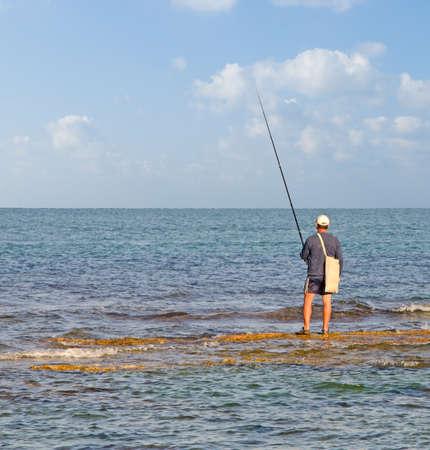 Fisher at sea Foto de archivo