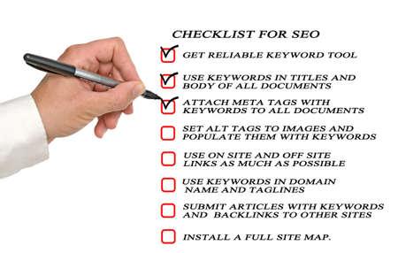 Presentation of SEO checklist