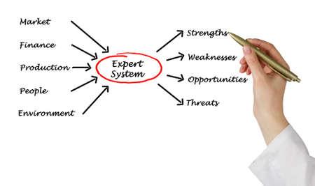 Diagram of expert system