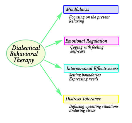 Components of Dialectical Behavioral Therapy Фото со стока