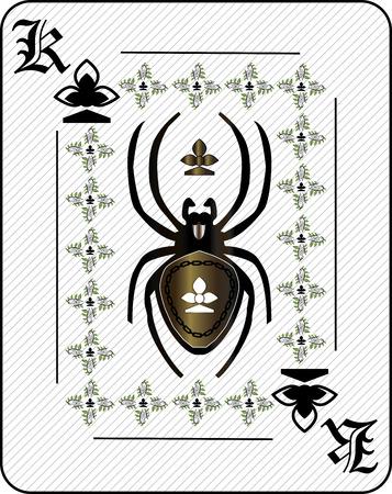 Araignée carte à jouer Banque d'images - 63553594