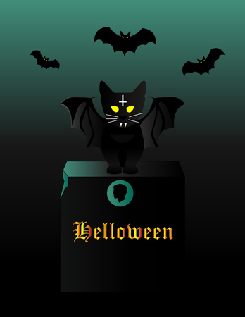 kitten Halloween, additional format EPS10, illustration, vector