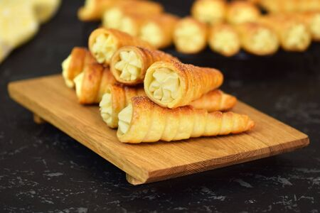 Delicious cream horns filled with vanilla cream