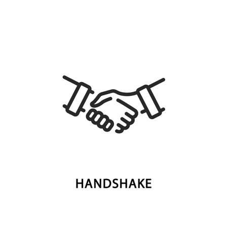 Handshake flat line icon. Vector illustration partnership symbol. Vektorgrafik