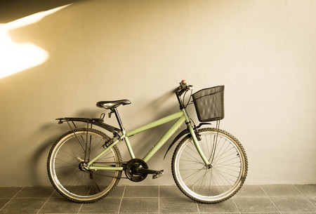 City bicycle. Cycling in city urban environment, ecological transportation concept.