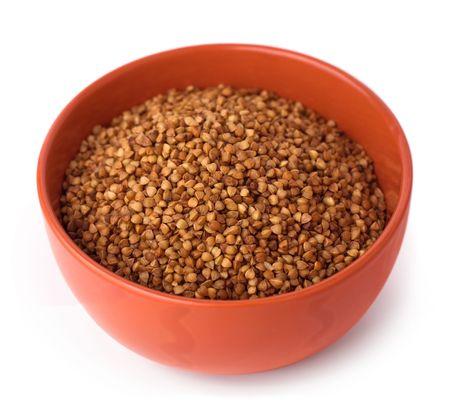 Buckwheat cereal isolated on white background Stock Photo - 6691859