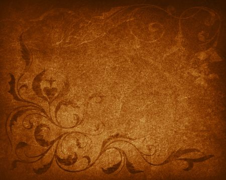 vintage textured background with floral elements
