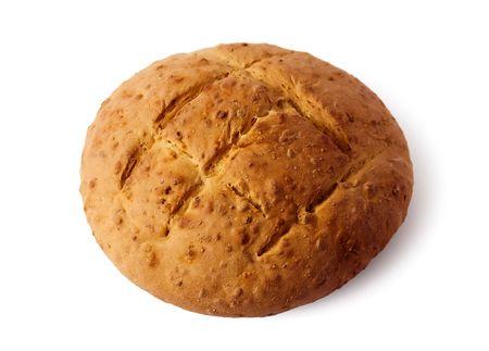 fresh bun isolated on white Фото со стока