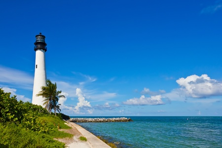 Cape Florida Lighthouse, Key Biscayne, Miami, Florida, USA Stock Photo - 10594639