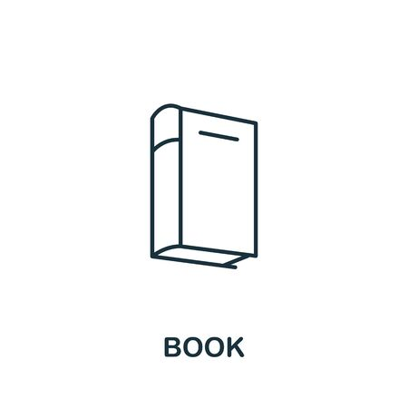 Book icon from office tools collection. Simple line Book icon for templates, web design and infographics.
