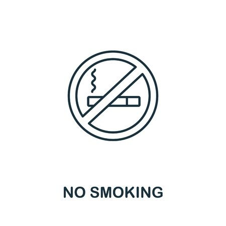 No Smoking icon from office tools collection. Simple line No Smoking icon for templates, web design and infographics.