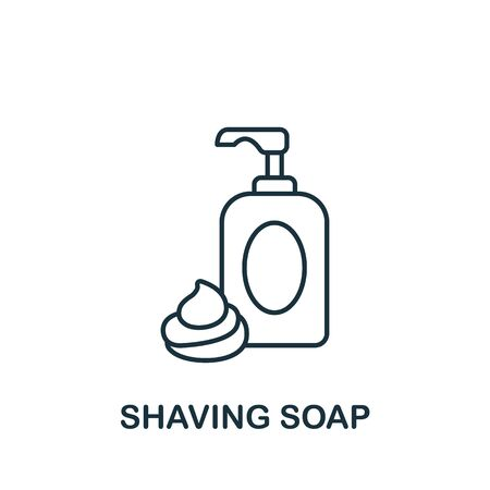 Shaving Soap icon from barber shop collection. Simple line element Shaving Soap symbol for templates, web design and infographics