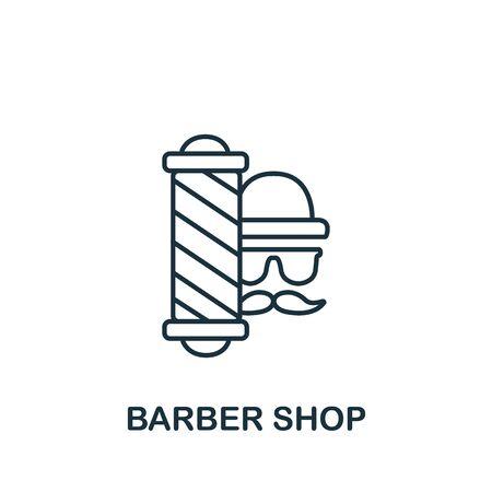 Barber Shop icon. Simple line element Barber Shop symbol for templates, web design and infographics