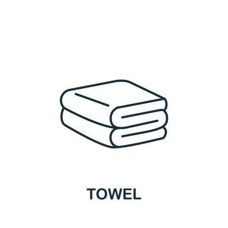 Towel icon from barber shop collection. Simple line element Towel symbol for templates, web design and infographics Ilustração