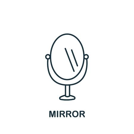 Mirror icon from barber shop collection. Simple line element Mirror symbol for templates, web design and infographics