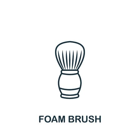 Foam Brush icon from barber shop collection. Simple line element Foam Brush symbol for templates, web design and infographics