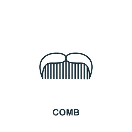 Comb icon from barber shop collection. Simple line element Comb symbol for templates, web design and infographics