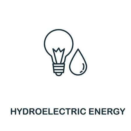 Hydroelectric Energy icon from clean energy collection. Simple line element Hydroelectric Energy symbol for templates, web design and infographics